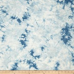 Bamboo Rayon Tie Dye Jersey Knit Light Blue from @fabricdotcom  This stretch bamboo rayon jersey knit fabric has an ultra soft hand, a fluid drape and four way stretch-75% stretch across the grain and 50% vertical stretch. This versatile fabric is perfect for creating stylish tops, tanks, lounge wear, gathered skirts and fuller dresses with a lining.
