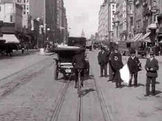 Film footage of San Francisco's Market Street from a moving cable car, before the 1906 earthquake and fire.