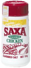 Saxa Chicken Salt is a mild, spicy flavoured chicken salt seasoning. It can be used to enhance the flavour of a variety of foods including barbecued chicken, chips and vegetables.  The handy picnic pack allows it to be poured or sprinkled over food. Its convenient size also makes it ideal to take on picnics or when camping.