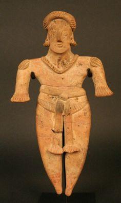 MesoAmerica; Colima; Female anthropomorphic figure; Ceramic; Period: Early Formative 200 BC - 300/500 AD Style Colima.