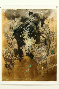 「there are no spider」  65×50cm  lithograph,brassleaf ed.10  2009