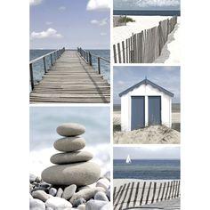 Affiche bleu et blanc en 50x70cm Bleu/blanc - Bord de mer - Affiches décoratives - Affiches et déco murale - Salon et salle à manger - Décoration d'intérieur - Alinéa