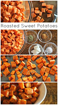 Roasted Sweet Potatoes In Coconut Oil fast metabolism coconut oil Sweet Potato Recipes Healthy, Roasted Potato Recipes, Vegetable Recipes, Paleo Recipes, Whole Food Recipes, Sweet Recipes, Oven Roasted Sweet Potatoes, Cubed Sweet Potatoes, Cooking Sweet Potatoes