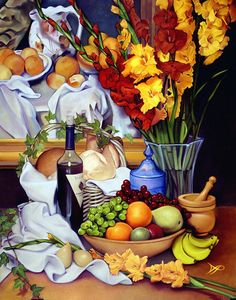 Still Life with Cezanne Painting