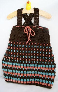 Baby crochet dress by Luz Patterns #crochetpattern #crochet