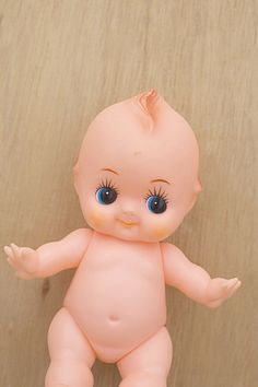 My great grandmother gave me this doll! Vintage Kewpie Doll Plastic Toy 70s