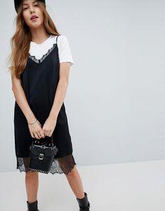 ASOS | ASOS Lace Insert Slip Mini Dress