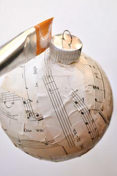 Make a Sheet Music Craft – Ornament Tutorial {CCC}