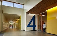 Way-finding idea for learning community entry. Finn Hill Middle School