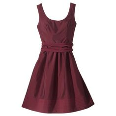 Pretty taffeta dress in several colors... $55 from Target!!  Women's Scoop Neck Taffeta Dress w/Removable Sash - Assorted Colors