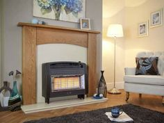 Strata, Gas Fire, Brown http://www.direct-fireplaces.com/