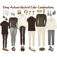 Deep Autumn Neutral Color Combinations