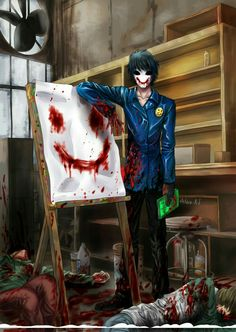 Bloody Painter; Creepypasta you get an A+! Good job, *screaming eternally but realizes I'm related to him* good job...BROTHER....