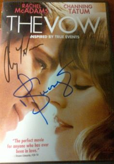 The Vow DVD, SIGNED BY CHANNING TATUM and Director Michael Sucsy - Repin for a shot at winning! (U.S only).