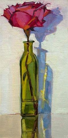 "Daily+Paintworks+-+""Happy+Birthday+SaraJane""+-+Original+Fine+Art+for+Sale+-+©+Miriam+Hill"