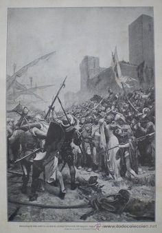 """Ramón Tusquets, """"Embarque de don Jaime I en Salou a la conquista de Mallorca"""" 1887"""