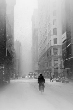 "whitney-hayes: ""Whitney Hayes "" What a fantastic scenery. A snowed in city is a sight to behold but we are not talking about any city here: It's NYC. Portraits, Strand, New York City, Monochrome, Vsco, Scenery, Photos, World, Outdoor"