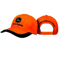 Nothing Runs Like A Deere Blaze Orange Reflective Twill Hat
