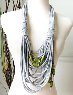 Shabby Chic Scarf Necklace