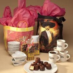 This package lets you experience the ingredients of a savory Cafe Pasqual's style breakfast, and even share it with someone who hasn't found this Santa Fe favorite.  You will get - 4 Cappuccino Bowls; 4 Pasqual's Mugs; 4 Heart Dishes; 12 Canele' de Bordeaux; a Packet of Five Grain Hot Cereal; a Packet of Linda's Granola; a Bag of Pasqual's Organic House Blend Coffee; all carryout ready in our decorative gift bag.  (The Zapata long handled Tote Bag; can be purchased for $20.00)