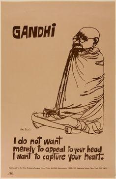 October 2, 1869 - Happy birthday, Mahatma Gandhi! Ben Shahn, Gandhi, 1983 | Harvard Art Museums