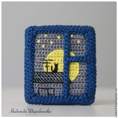 Pic for insp. Scrap Crochet, Crochet Baby Toys, Crochet Potholders, Crochet Art, Crochet Squares, Crochet Home, Crochet Motif, Crochet Designs, Crochet Patterns