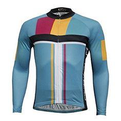 Ilpaladino Men Summer Autumn Breathable Long Sleeve Cycling Jerseys-BLUE-S