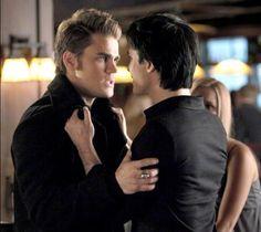 Stefan and Damon TVD