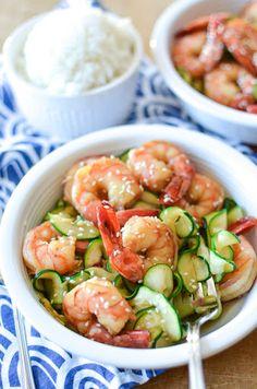 5 Ingredient Honey Garlic Shrimp Recipe on Yummly