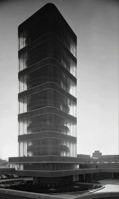 Ezra Stoller, 'Johnson Wax Administration Building and Research Tower, Frank Lloyd Wright, Racine, WI', 1950