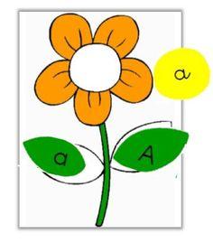 Reconnaissance des lettres - Printemps - Fleurs - Jeu de l'alphabet