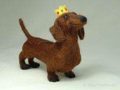 needle felted #dachshund - Google Search Tracy Welch needs one of these. #felteddog
