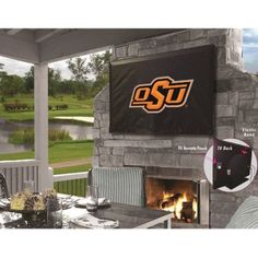 NCAA Outdoor TV Cover by Holland Bar Stool, 46'' x 28'' - OSU Cowboys
