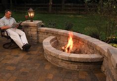 Fire pit. I love how it's off to it's off to the side and not using us so much space by putting it right in the middle