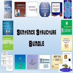 Sentence Structure BUNDLE - Sentence Structure... by HappyEdugator | Teachers Pay Teachers