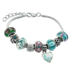 Murano Style Glass Beads and Charm Only $19