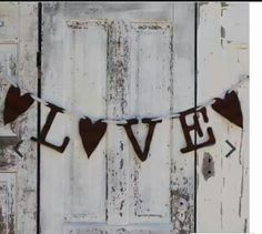 Rustic Walls, Rustic Wall Decor, Rustic Gifts, Rustic Wedding, Letters, Gift Ideas, Home Decor, Decoration Home, Room Decor