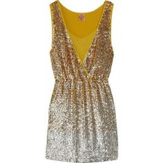 what more could a girl want? yellow. sequins. tory burch.