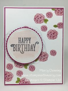Happy Birthday Gorgeous, Stampin' Up! www.stampinwithmarcy.com