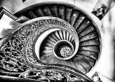 Stairway to heaven.  Peabody Library, Johns Hopkins University