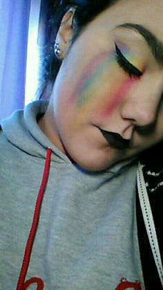 LGBT Pride Makeup by me ✨ Hope you like it and use it as an inspiration ❤ Send me the pictures if you do   And remember: BE PROUD OF WHO YOU ARE!!!❤❤❤