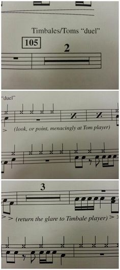 OMG, this is literally the funniest things I have ever seen written in a piece of music