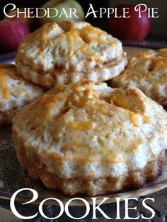 Cheddar Apple Pie Cookies