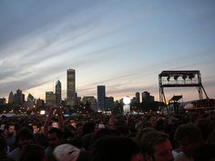 Lollapalooza in downtown Chicago