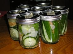 Small-Batch Refrigerator Dill Pickles from Food.com: Just want a small amount of pickles with no cooking or processing? This recipe will fix you up with 3 to 4 half pint jars in about 10-15 minutes. The hard part is waiting the week until they are done! The recipe below calls for carrots, but you can use any fresh vegetable--my favorite is (canned) baby corn, but cucumber, green or jalapeño peppers, green beans or even legumes like chickpeas also work. I like making four different kinds with…