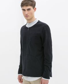Image 4 of CREPE SHIRT WITH ZIP from Zara
