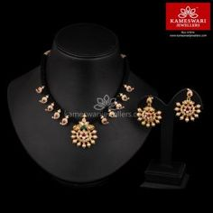 Pre-owned Sterling Silber Schmuck Gold Earrings Designs, Gold Jewellery Design, Necklace Designs, Thread Jewellery, Antique Jewellery, Diamond Jewellery, Gold Jewelry Simple, Black Thread, Necklace Online