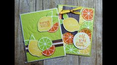 Today I am sharing with you a card I created with the Lemon Zest Bundle, this super cute stamp set, and punch is perfect for creating quick and cute cards. Cool Cards, Diy Cards, Strawberry Fruit, Strawberries, Lemon Slice, Butterfly Flowers, Art Plastique, Stamping Up, Recipe Cards