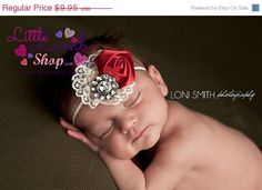 Baby Hair Band Newborn Girl Props Headband Baby by littlelambshop