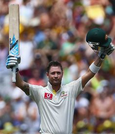 Michael Clarke achieved an Australian record for most runs in a calendar year by a batsman in Tests on the second day at the MCG #cricket #sports